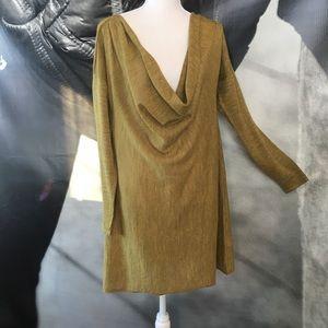Eileen Fisher golden baby alpaca dress